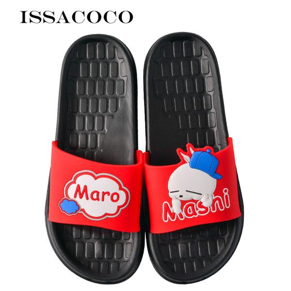 ISSACOCO Herrenhausschuhe Hauspantoffeln Anti-Rutsch-Slides Badezimmer Sandalen Paar Herrenschuhe Pantuflas terlik Chinelos