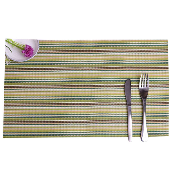 PVC Placemat For Kitchen Dining Table Mat Non-Slip Waterproof Dinner Place Mats Bowl Plate Dish Pats Coasters 30*45CM