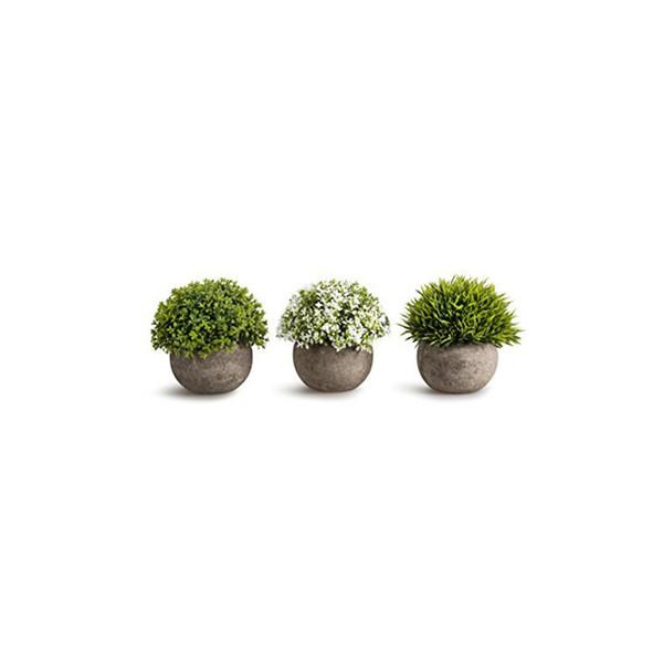 3 Pcs Artificial Plants Pot Plastic Mini Plants Flower Simulation Pot For Home Decoration Ornament Colorful