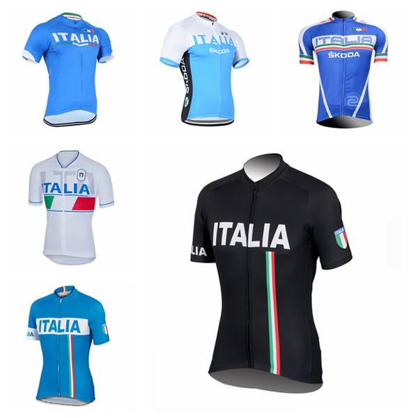 ITALIE équipe été cyclisme manches courtes jupes en tête Vêtements cyclisme route porter des vêtements de sportwear Q73117