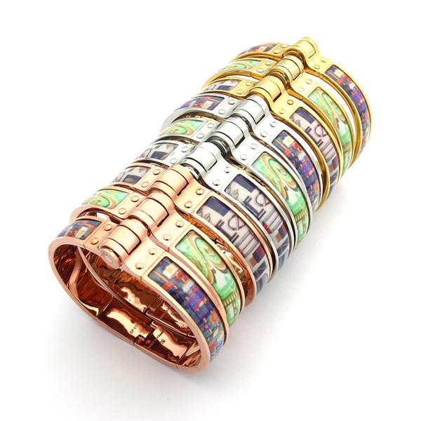 H çıkartmalar renk kauçuk bayanlar bilezik bayanlar için 18 K altın dış ticaret bilezik takı