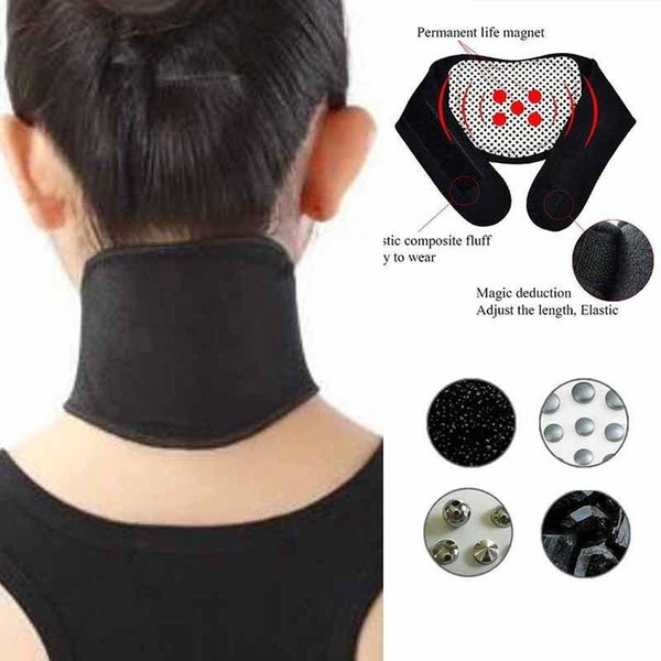 Health Care Self Heating Tourmaline Magnetic Neck Heat Therapy Support Belt Wrap Brace Massager Slim Equipment T0008