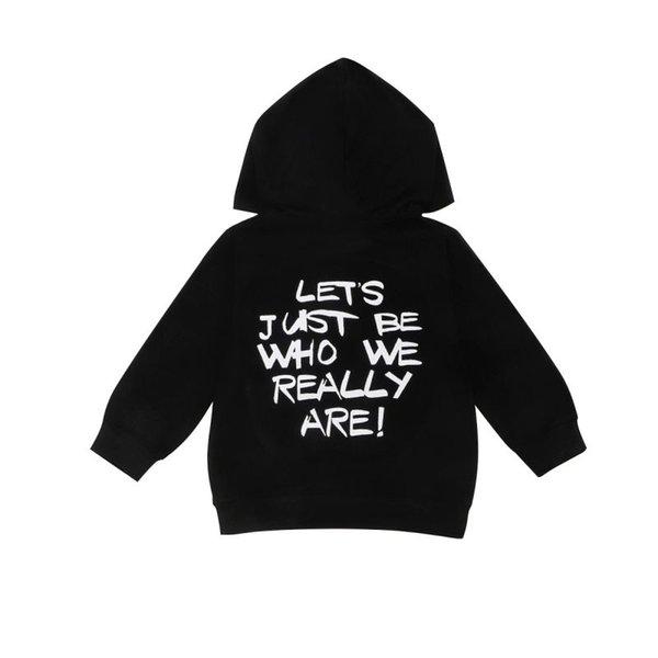 Herbst-Kind-Baby-Boy Letters DruckHoodie Gelegenheitskleinkind Langarmshirt Sweatshirts