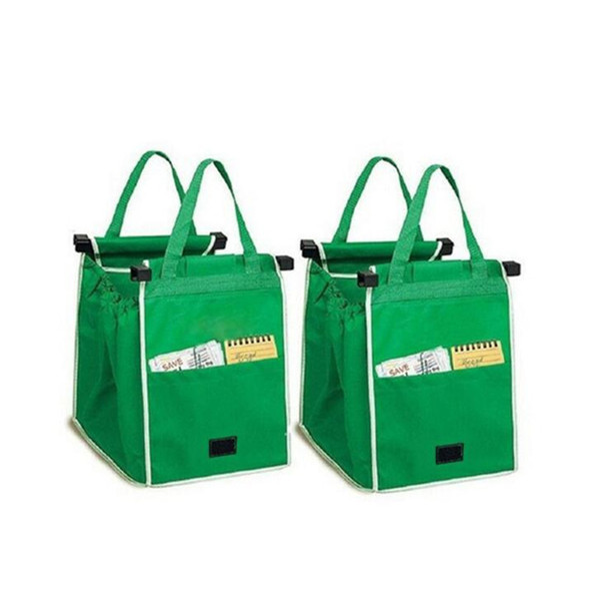 Grab bag clip to cart grocery hopping bag reu able eco foldable hopping bag torage bag boxe ba ket big ize b11