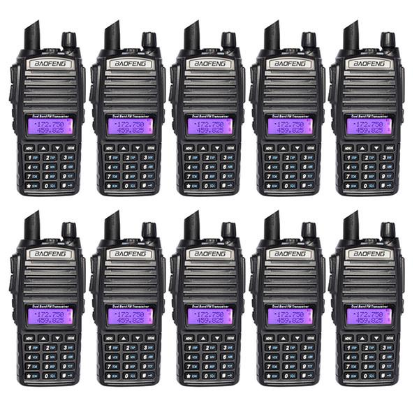 Baofeng UV82 Walkie Talkie Dual Band Portable Two way Radio Dual PTT CB Radio Station VHF UHF Transceiver Hunting Ham