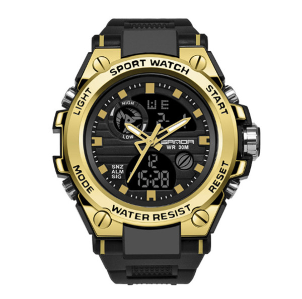 2019 European and American fashion men and women new multi-function waterproof electronic watch outdoor sports watch free shipping