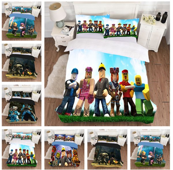 Play Game Cartoon Cotton 3PCS Duvet Cover Set Fashion Teens Boys Girls Home Decor Bedding Set Ultra Soft&Durable Comforter Cover