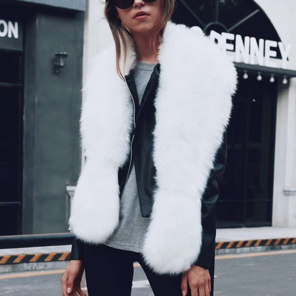 New Women Winter Solid Faux Fur Long Scarves Sexy Warm Elegant Casual Solid Black/White/Dark Green/Brown/Silver Gray 6Q0239