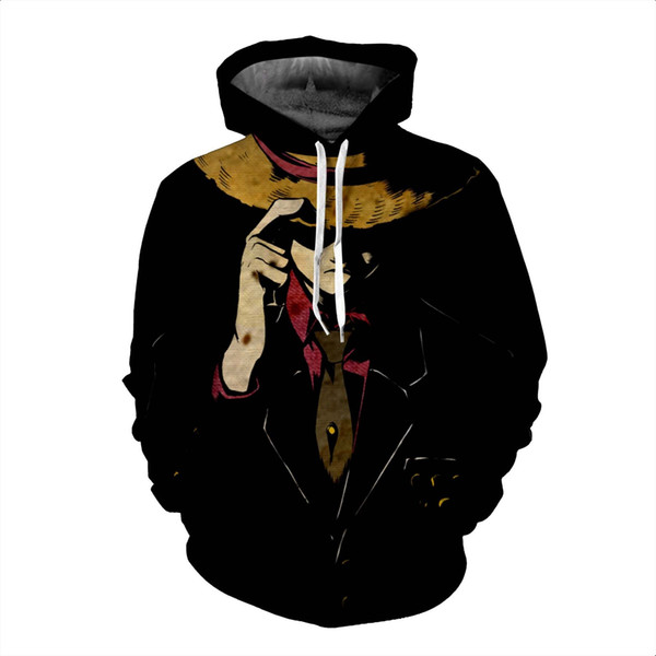 Newest Japan Anime Straw Hat Luffy of One Piece Hoodies 3D Print Clothing Women/Men Unisex Funny 3D Hoodies Casual Pullovers Tops K541