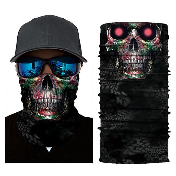 3D numérique impression masque série masque sauvage écharpe en plein air équitation écharpe magique sauvage (AC155) # 8