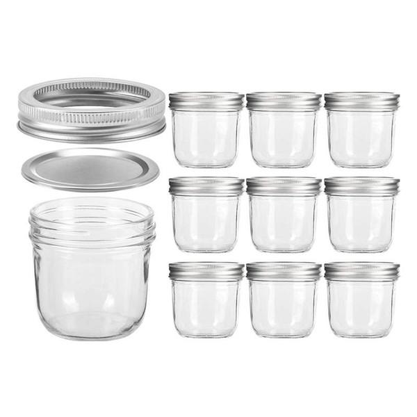 10 teile / satz 100 ml Glas Klarglas Flaschen Make-Up Creme Nail art Kosmetische Behälter Runde Flasche Tragbare Glas Transparente Flasche