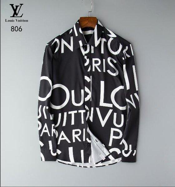 20ss бренд мужской бизнес повседневная рубашка мужская с длинным рукавом в полоску slim fit camisa masculina социальные мужские рубашки новая мода рубашка # 8403