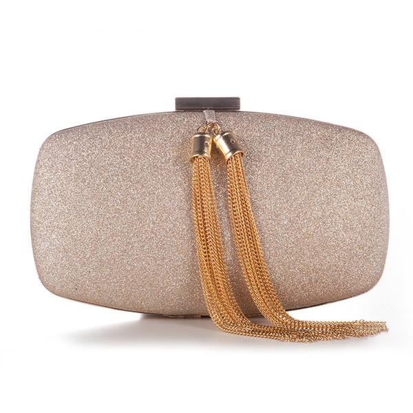 Ladies Tassel Metal Clutch XIYUAN Evening Bag Daily Clutches Women Dinner Purse Luxury Female Party Clutch Mini Shoulder Bags