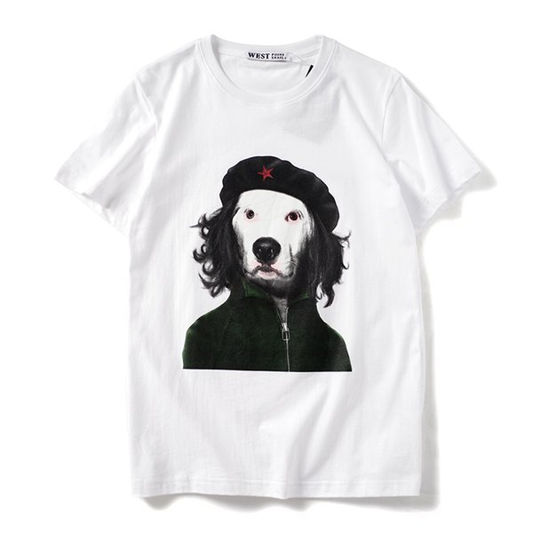 2019 latest HOT best Quality Art Dog Printing PERSONALITY HOT SELL Summer clothes Short sleeved Fashion Trend JOKER T-SHIRTS TOPS