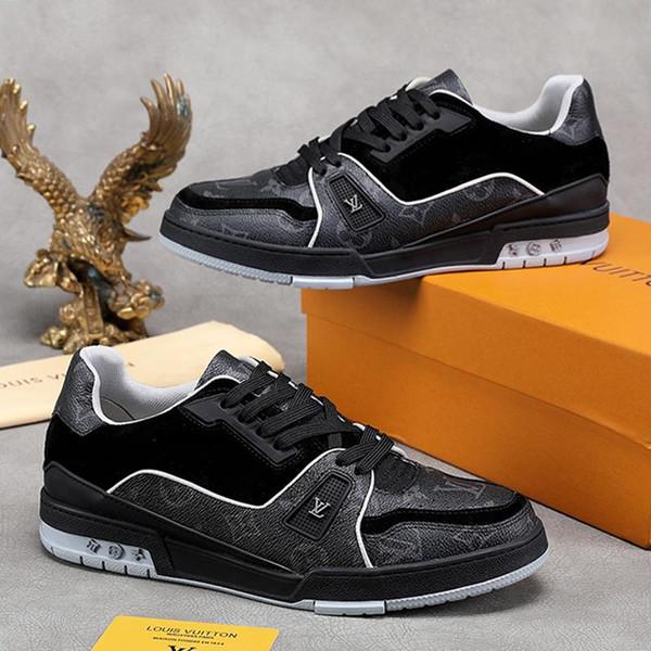 LVDesignerLuxury Luxury Mens Shoes Trainer Sneaker Chaussures pour hommes Casual Luxury Men Shoes Fashion Type Zapatos de Hombre F
