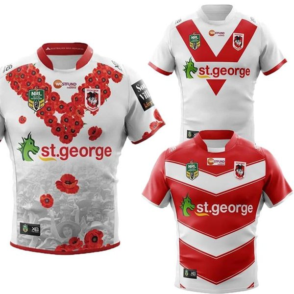 4c1985a89 Newset Saint George home Rugby Jersey Shirt 2018 2019 Saint George away  Mens Rugby Football Jersey 18 19 Size S-XXX