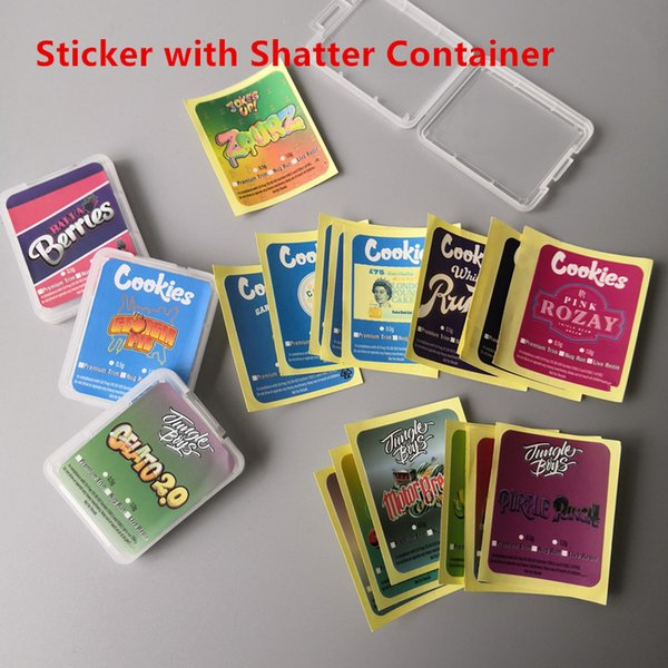 Sticker con Shatter Container