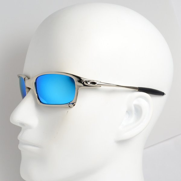 New Men Polarized Cycling Sunglasses X Metal Sport Riding Eyewear Oculos ciclismo gafas Outdoor Glasses Square Lens