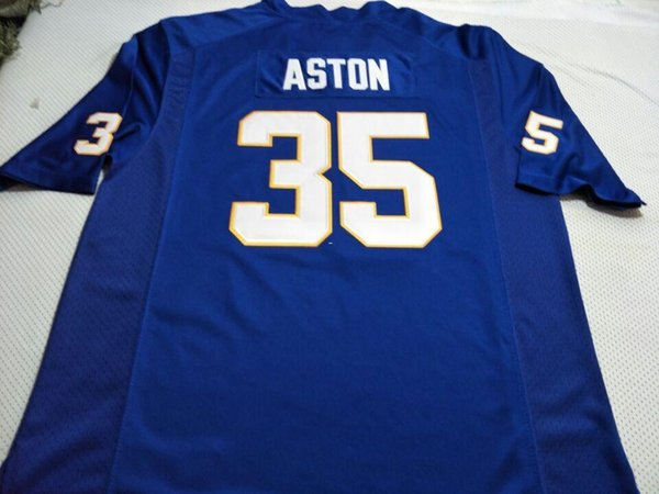 finest selection 63add 861c2 2019 Men Pittsburgh Panthers George Aston #35 Real Full Embroidery College  Jersey Size S 4XL Or Custom Any Name Or Number Jersey From Ncaa001, $16.45  ...