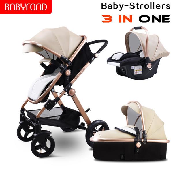 ¡Envío rápido! Lujo 3 en 1 cochecito de bebé marco de aluminio CE certificado cochecito de lujo Procesamiento a bajo precio