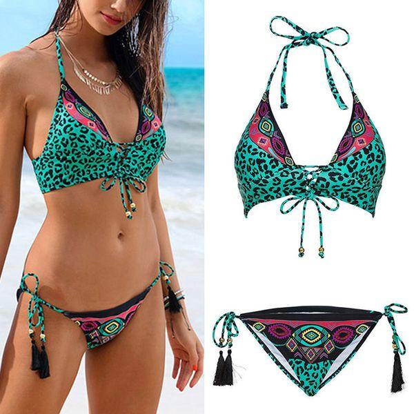Bikini Sexy da donna Top con pantaloni Costume da bagno Bikini Fast Dry High Elastic Backless per l'estate XR-Hot