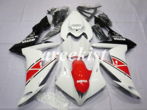 Moule d'injection nouveaux ABS moto carénages complet Kits Fit pour YAMAHA YZF-R1 2004 2005 2006 04 05 06 carrosserie en rouge VALIDER blanc
