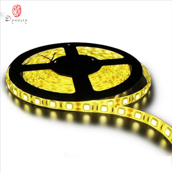 5 Metri / Pack LED Striscia Flessibile 3MTape 5050 14.5 W / M Impermeabile 60LED / M Super Luminosità Con Adattatore Spina Dinastia Controller Spedizione Gratuita