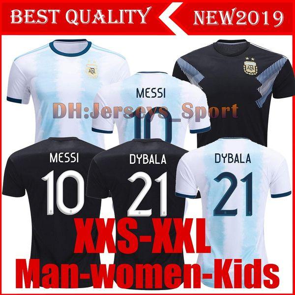 2019 Arjantin copa amerika ev sahibi Forma MESSI DYBALA DI MARIA AGUERO HIGUAIN 19 20 Arjantin erkek ve kadın Çocuklar