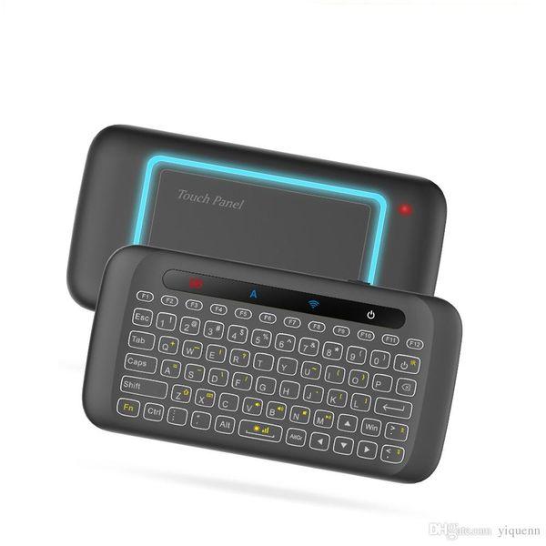 H20 mini kablosuz klavye arka touchpad anten fare fare kızılötesi tilt Android KUTUSU akıllı TV Windows PC için uzaktan kumanda