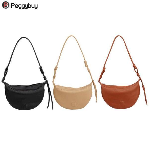 crescent women shoulder bags fashion pu leather purse crossbody handbag bolsa feminina sale