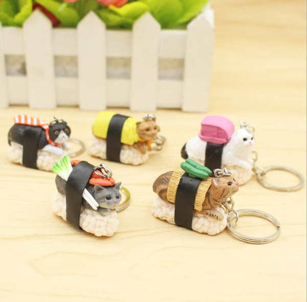 Cute Plush Cheese Cat Key Chain Creative Cartoon Hanging Accessories Stuffed Toy Keychains Gift