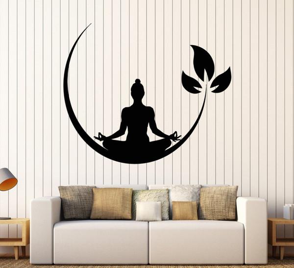 Yoga Meditation Room Vinyl Wall Stickers Buddhist Zen Wall Decal Design Removable Wall Sticker Decor Yoga Room Wallpaper
