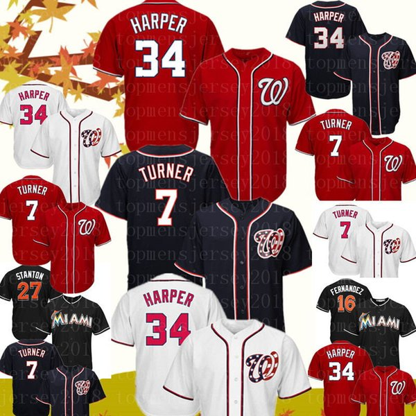 huge discount eca23 38a9d 2019 34 Bryce Harper Jersey Washington Nationals Jerseys 7 Trea Turner  Embroidery Baseball Jerseys Cheap Sales M XXXL From Topmensjersey2018,  $20.9 | ...