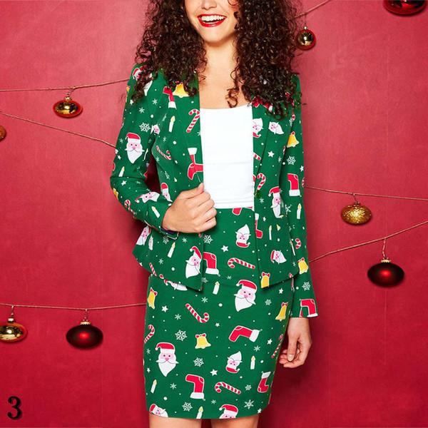 Mode féminine Marry Costumes de Noël de luxe veste + robe Ensembles New Arrival Casual Ladies Deux pièces Ens Hot Vente Streetwear Vêtements #
