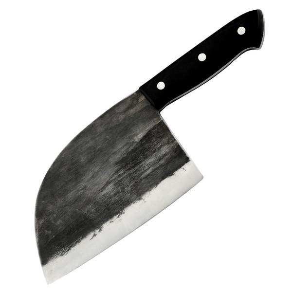 SOWOLL Handmade forjado facas de cozinha Butcher Chef faca alto carbono de aço revestido de fatiamento Faca completa Tang Handle Kitchen Tool Set