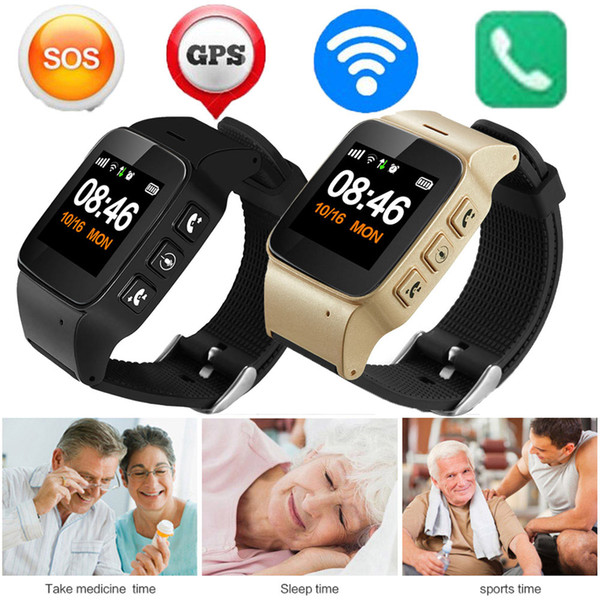 2018 D99 Personnes Agées Smart Watch Anti-Perdu SOS Wifi GPS LBS Suivi Sim Carte Étanche Smartwatch Gps Suivi Montre Pour Adultes