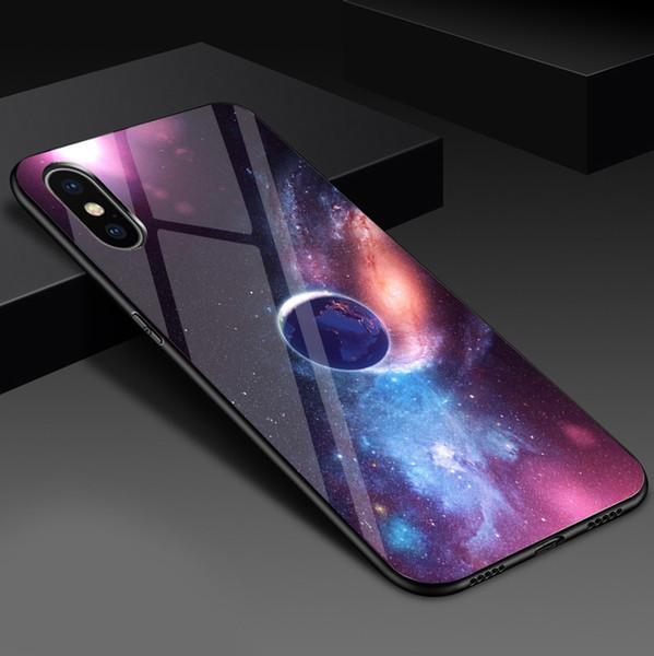 Caso de telefone espaço de moda para iphone x 8 7 6 6s mais 5 5S se planeta lua estrela de aranha silicone case para iphone