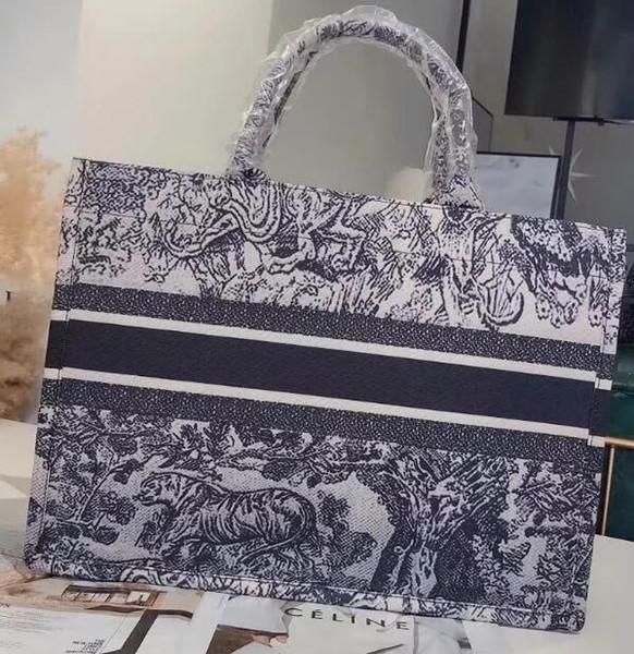 Totes sacos de sacos de grife de luxo da marca de moda 2019 Impresso bolsas de lona bordadas saco de compras lote Tamanho: 42 * 34 * 18 cm