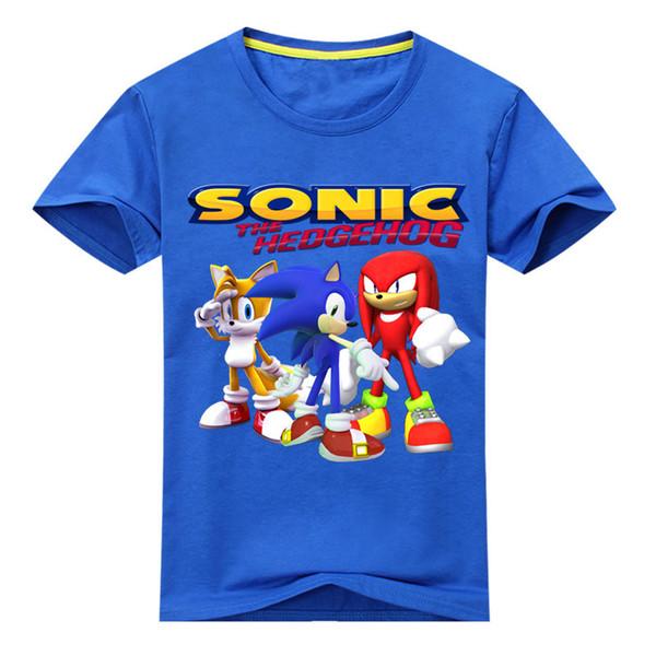 Kids 3d Cartoon Sonic Game Print T-shirts Costume Boys T Shirt Girls Summer T-shirt Clothing Children Tee Tops Clothes J190427