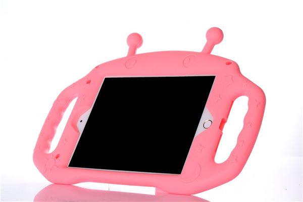 Alien silicone crianças dos desenhos animados case capa para ipad mini 5 2019 ipad mini 1 2 3 4 à prova de choque com alça 60 pçs / lote