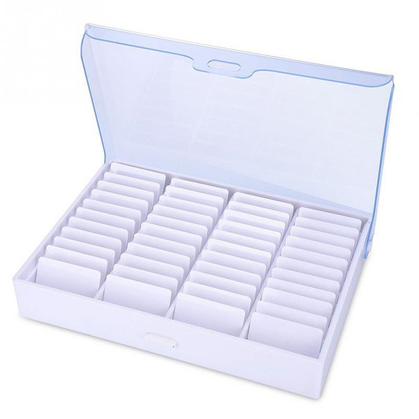 NHBR-Manicure Tools Storage Box Empty Clear Nail Art Decoration Rhinestone Gem Bead Container Makeup Organizer Display Storage