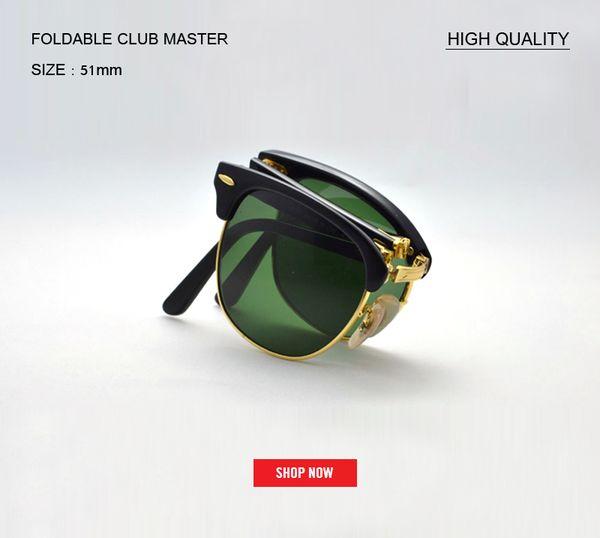 hot selling Brand Designer club master Folding Men Sunglasses For Traveling Oculos de sol Men's Driving Sun Glasses Shades Eyewear gafas