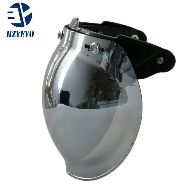best selling 1pcs Common Use Motorcycle Helmet Visor Jet Antiqued for Hallar Casco Mask Vintage Helmet Bubble Visor Lens Helmet Accessories