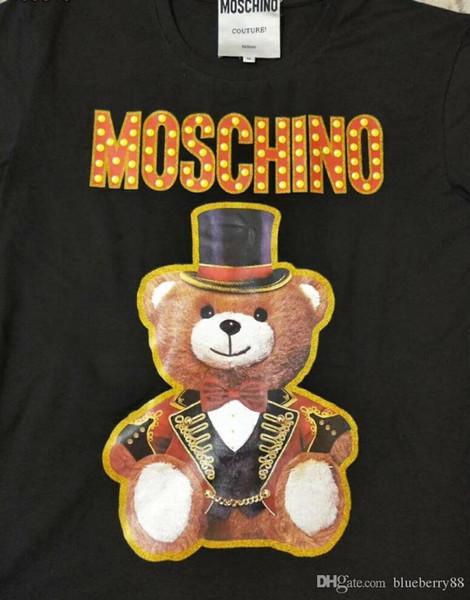 19ss Women T shirt style Womens Tops Teddy bear Full dress Letter t-shirt Casual Short Sleeve O Neck Woman Clothing 036