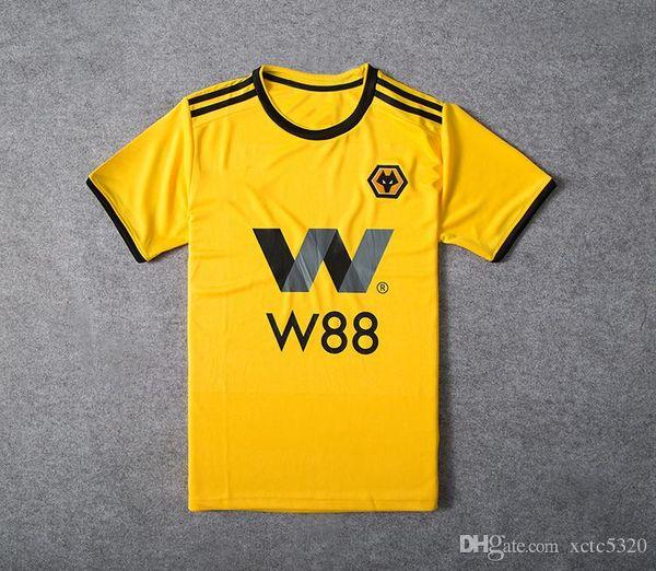 5ce404a0485 2019 Wolverhampton Wanderers Soccer Jersey Home Yellow 7# CAVALEIRO 18#  JOTA #5 BOLY