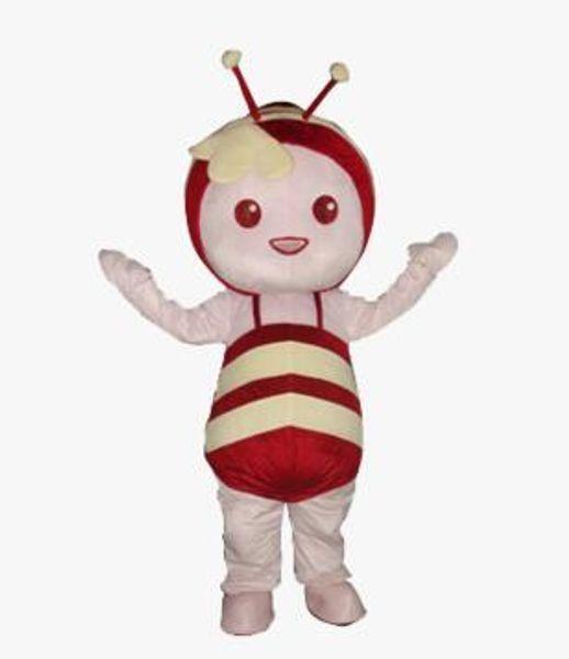Hot New Professional Lovely Haney Bee personaje trajes de la mascota de felpa tamaño adulto traje