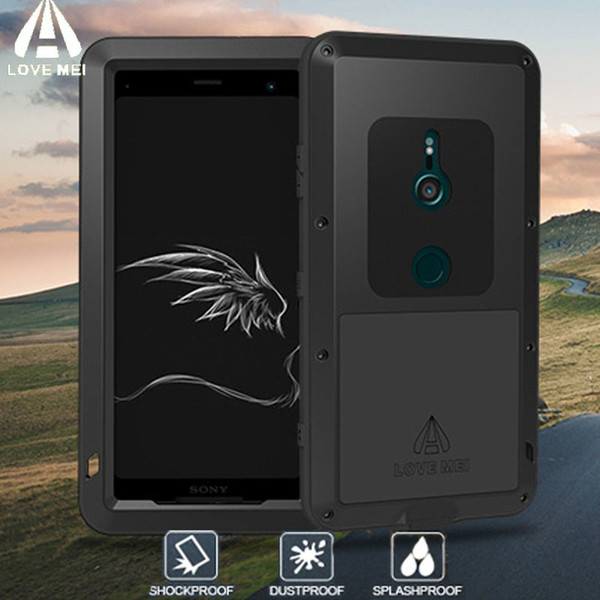 release date: 52614 637de 2019 XZ3 LOVE MEI Armor Metal Shockproof Case For SONY Xperia XZ3 Aluminum  Life Waterproof Cover For Sony XZ3 Xperia XZ 3 Phone Case C18112001 From ...