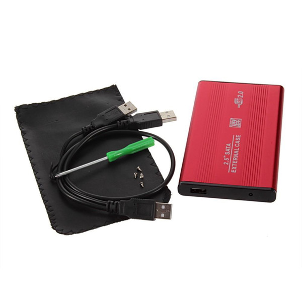 USB 2.0 2.5 Inch SATA IDE Enclosure External Case Box Mobile Disk Reader For HDD Notebook Laptop Hard Disks aluminum-magnesium alloy