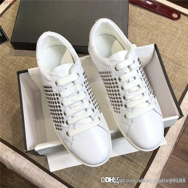 Chaussures de sport Super Star Hommes Sport Chaussures mode casual avec ongles perle chaussures en cuir de vache bas top blanc noir chaussures de sport avec boîte