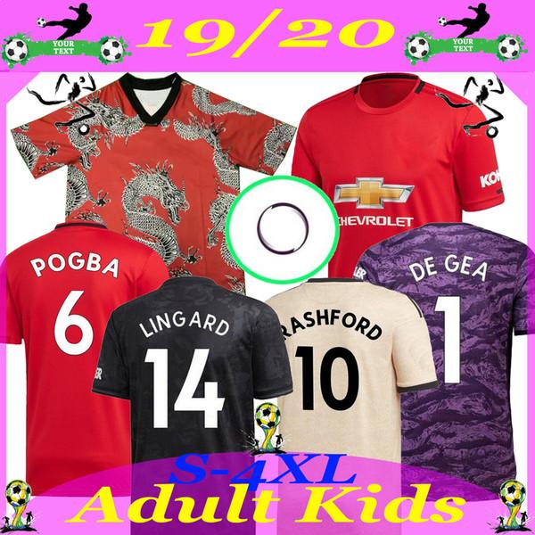 Top Nuovi 20 Manchester ALEXIS Pogba RASHFORD MATA Jersey di calcio 2019 2020 REGNO uomo adulto + scherza la camicia kit bambino Sport football 19